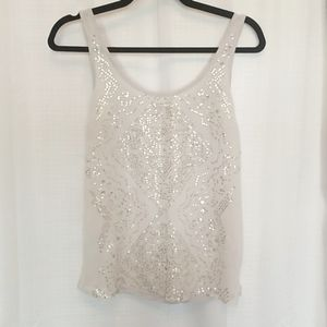 Dynamite sequined tank top light grey